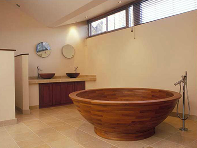 William Garvey Teak Wood Farmhouse Sink William Garvey Helio Teak Bath