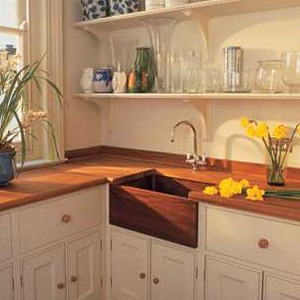 william garvey teak wood farmhouse sink