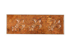 Copper Liner Tile - Fleur de Lis by SoLuna