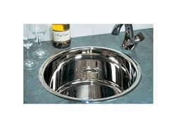 """Picture of Rogue 16"""" Round Metal Bar Sink"""