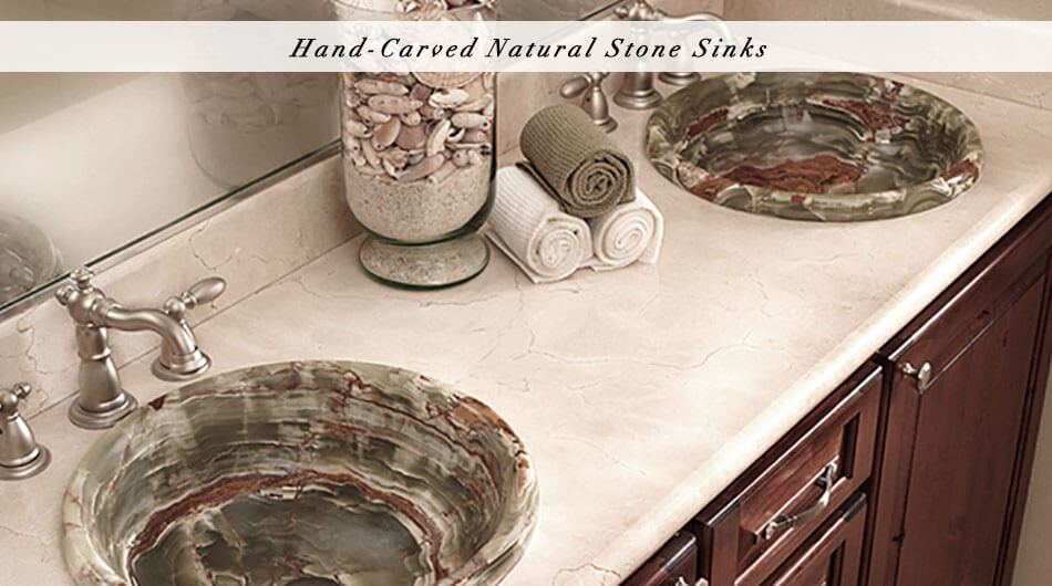 hand carved stone sink