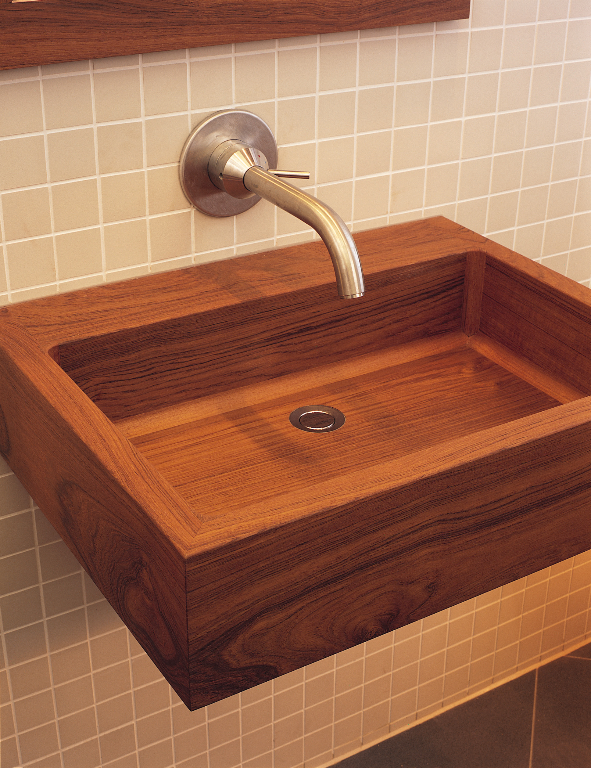 Picture of Teak Wood Geo Basin