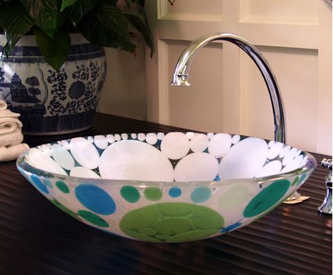Blue-Green Dot Sink