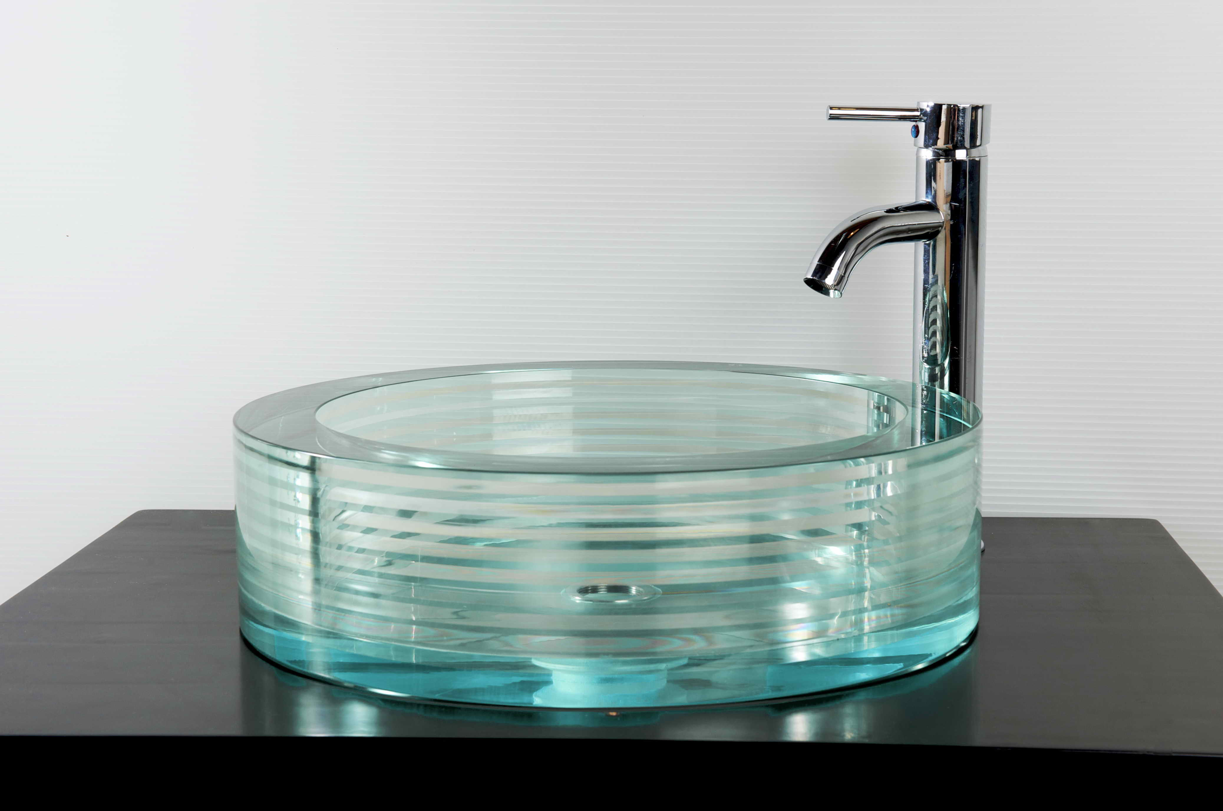 Picture of Round Glass Vessel Bath Sink