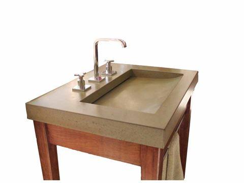 Jinn Concrete Ramp Vessel Sink
