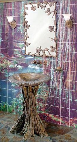 Fairy Tale Oak Bathroom Pedestal