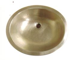 "Picture of 19"" Oval Bronze Bath Sink"