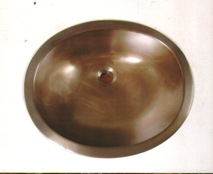 "Picture of 20"" Oval Bronze Bath Sink"