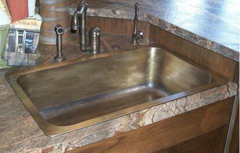 """Cast Bronze Kitchen Sink - 32"""""""