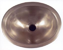 "Picture of 13"" Oval Bronze Bath Sink"