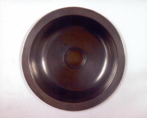 """Picture of 12"""" Round Bronze Bar Sink"""