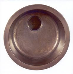 "Picture of 17"" Round Bronze Bar Sink"