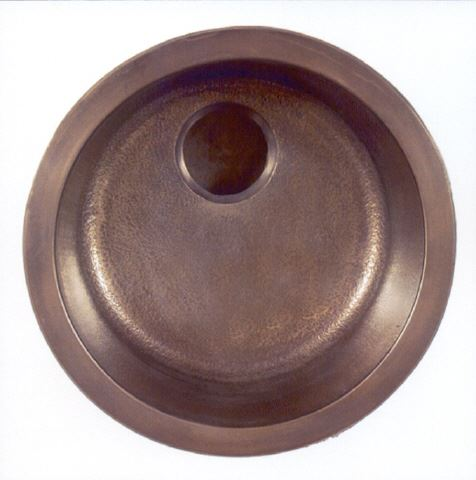 "17"" Round Bronze Bar Sink"
