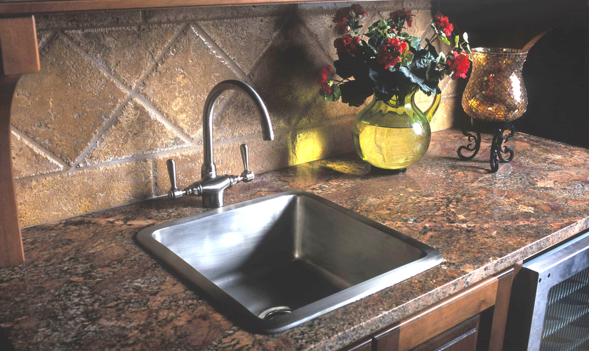 "Picture of 18"" Square Bronze Bar Sink"
