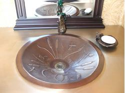 Picture of Dragonfly Bronze Vessel Sink