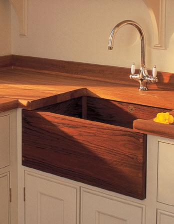 Picture of Belfast Teak Wood Farmhouse Kitchen Sink