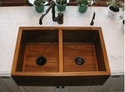 Picture of Teak Double Kitchen Sink