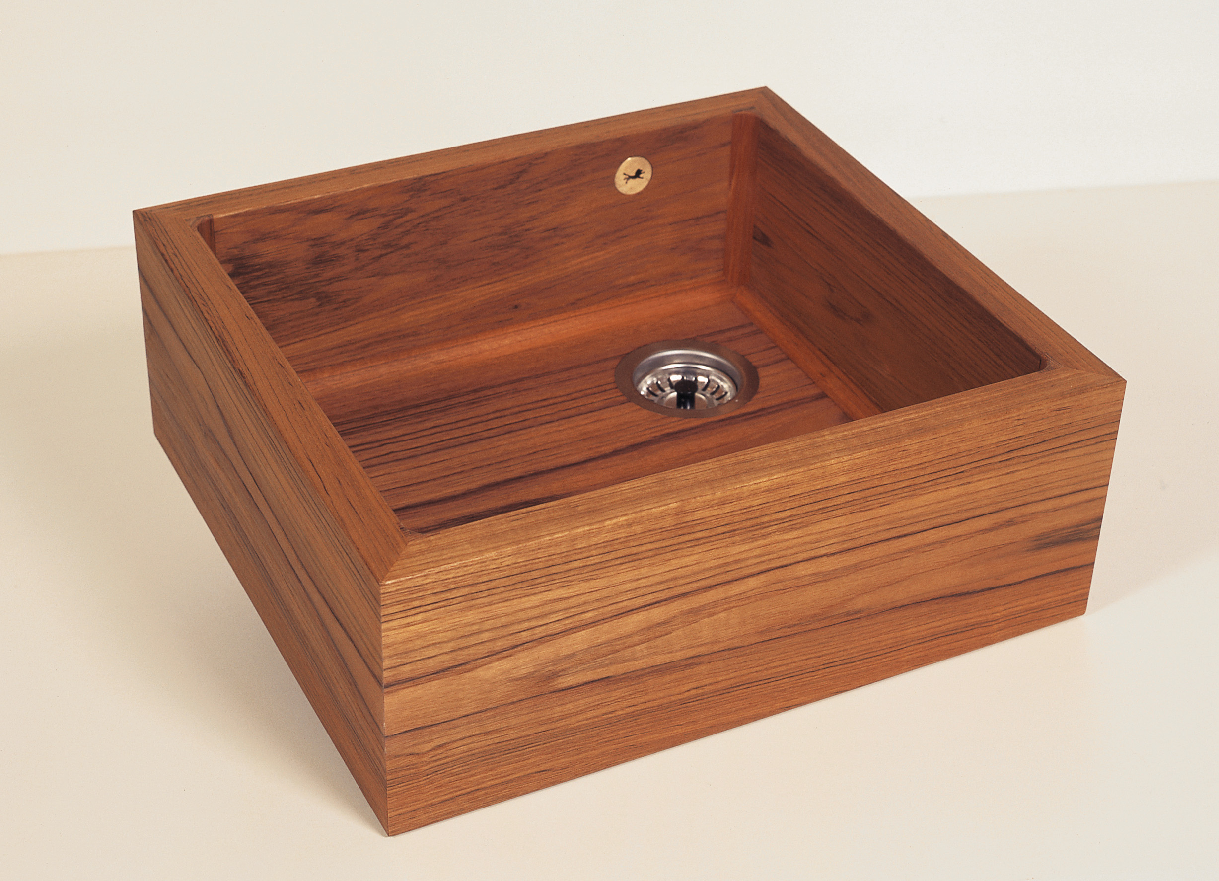 Picture of Teak Single Well Kitchen Sink