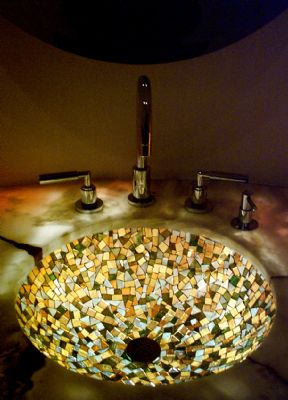 Picture of Autumn Glass Mosaic Sink