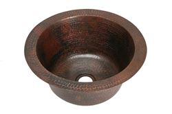 "16"" Round Copper Bar Sink by SoLuna"