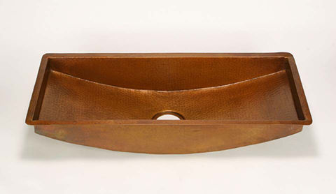 Large Trough Copper Prep Sink