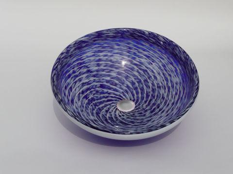 Blown Glass Sink   Cobalt Blue Whirlpool
