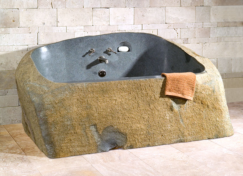 Picture of Cavestone Granite Natural Rock Bathtub