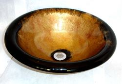 Picture of Bella Oro II Round Self-Rimming Glass Sink