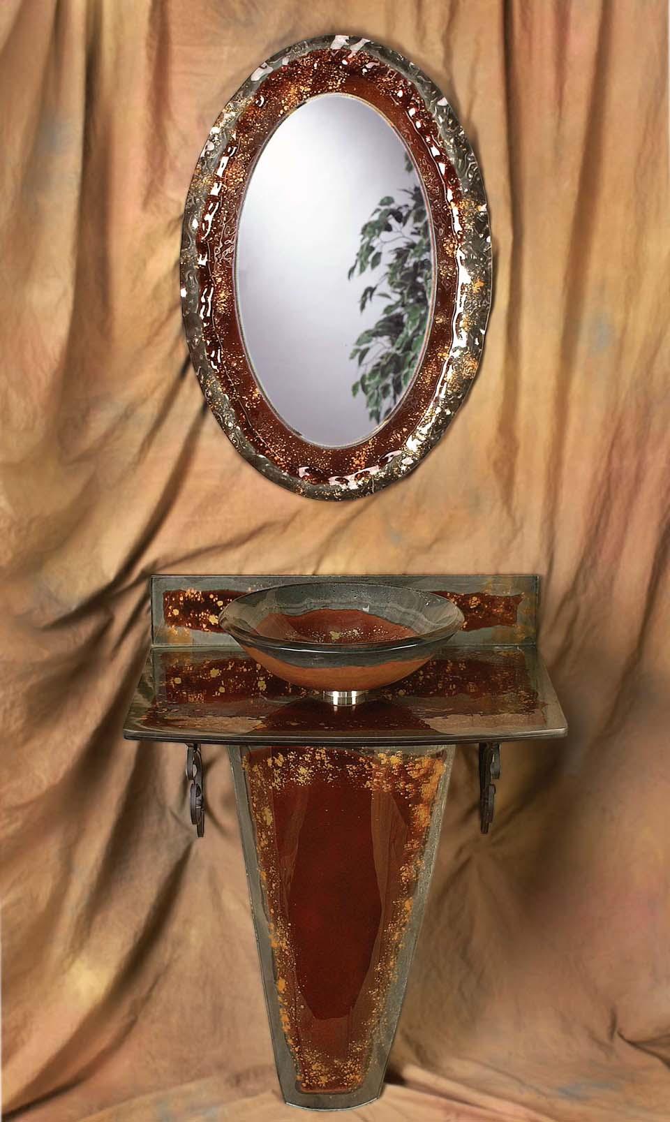 Picture of Copper Storm Vignette Bathroom Pedestal