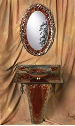 Picture of Copper Storm Vignette Bathroom Pedestal