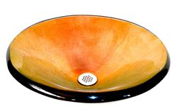 Picture of Fuoco Vibrente Round Glass Vessel Sink