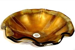 Picture of Onda Dell' Oro Wavy Edge Glass Vessel Sink