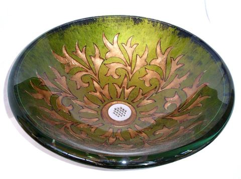 Victorian Round Glass Vessel Sink