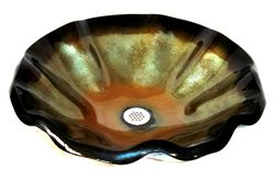 Picture of Vaso Verde Wavy Edge Glass Vessel Sink