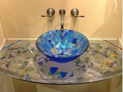 Cast Glass Vanity Top