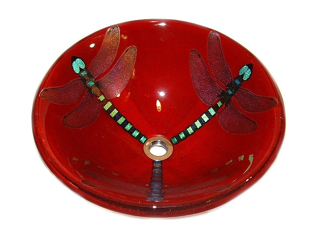 Picture of Red Dragonfly Vessel Sink