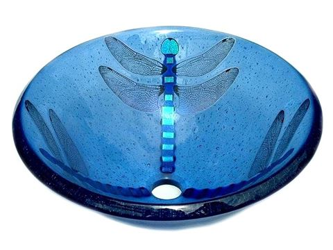 Blue Dragonfly Vessel Sink