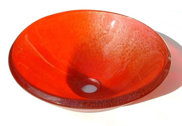 Picture of Transparent Orange Vessel Sink