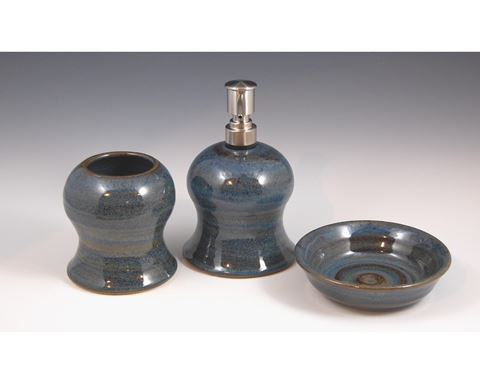 Stoneware Accessory Set - Sky Blue
