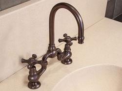 Sonoma Forge | Bathroom Faucet | Brownstone Gooseneck | Deck Mount