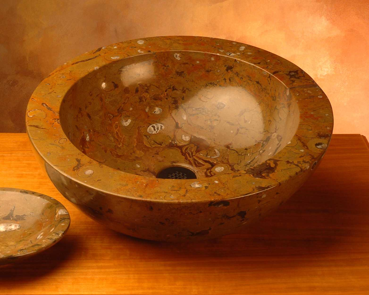 Picture of Fossil Vessel Sink from North Africa in Style C
