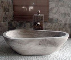 Picture of Piedra Pavo Stone Bath Tub