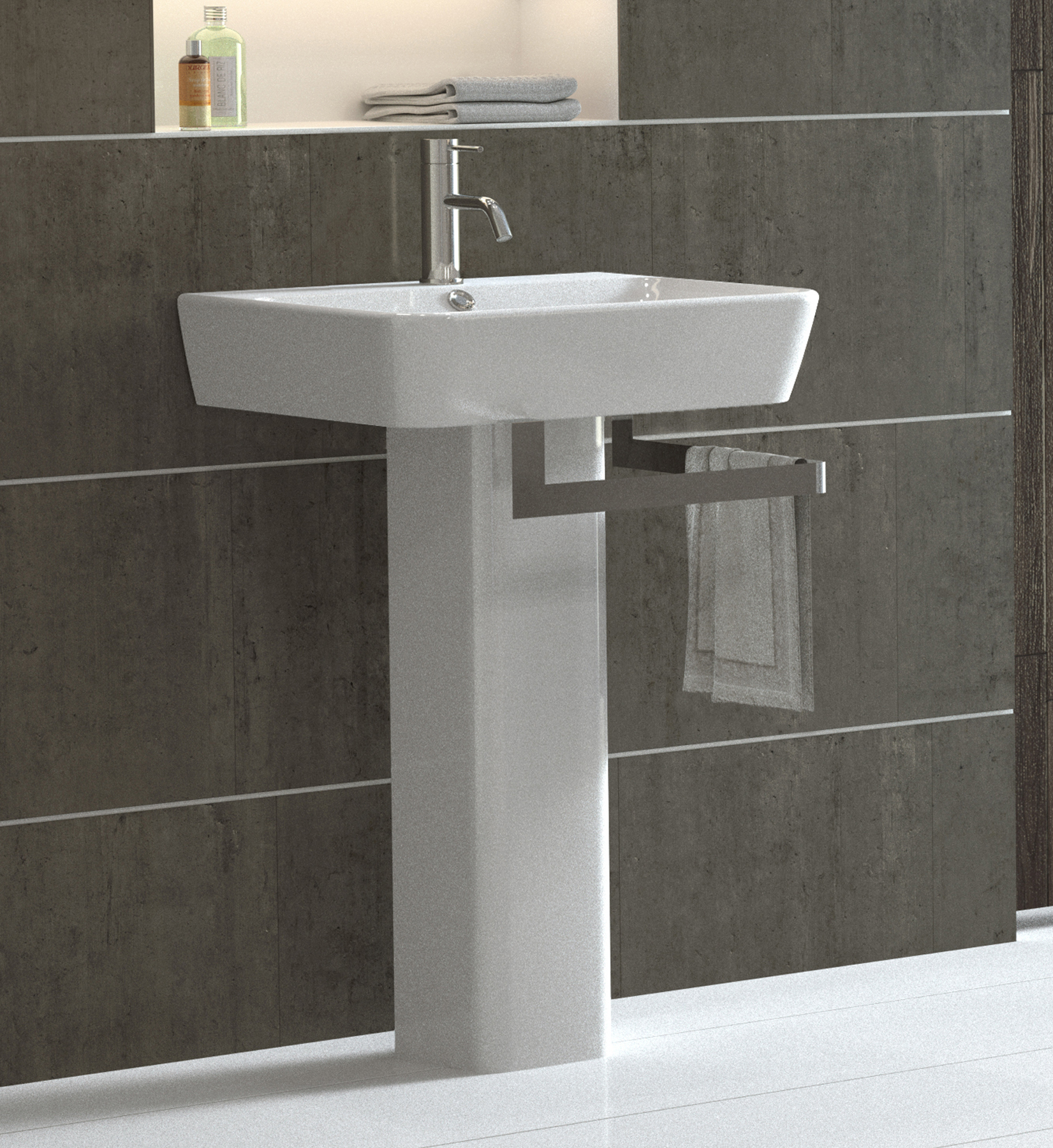 Picture of Bissonnet Emma Italian Pedestal Sink 2