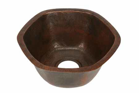 Picture of Hexagon Copper Kitchen Prep Sink By SoLuna