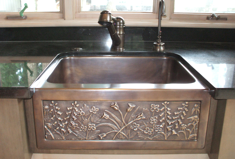"""Picture of 24"""" Chameleon Bronze Farm Sink Mini"""