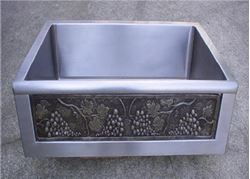 "Picture of 30"" Chameleon Stainless Sink Bullnose Edge"
