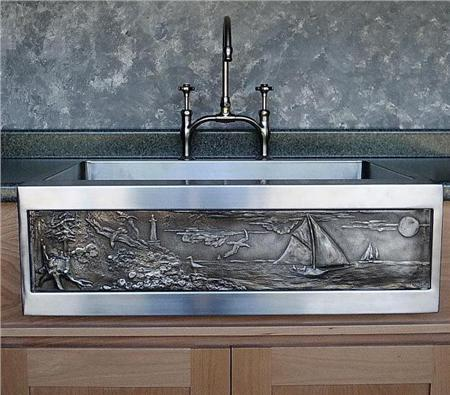 "Picture of 30"" Chameleon Stainless Sink Square Edge"