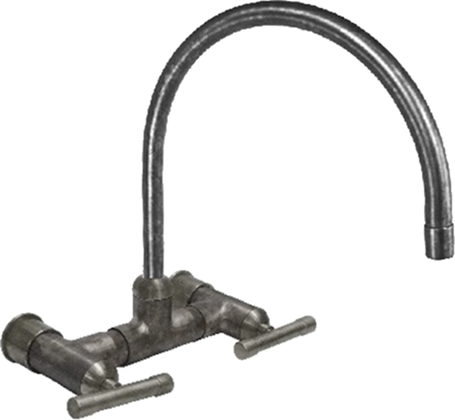 Picture of Waterbridge Wall-Mount Faucet with Arched Spout