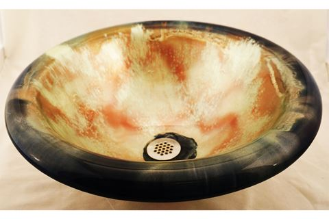 Supernova Self-rimming Glass Sink