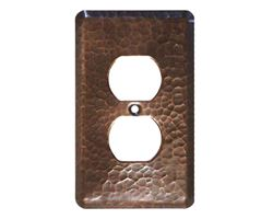 1-5 gang Duplex Outlet Copper Plate Cover